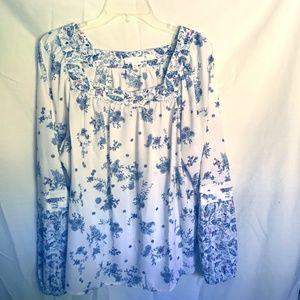 Lauren Conrad 2XL Floral blouse